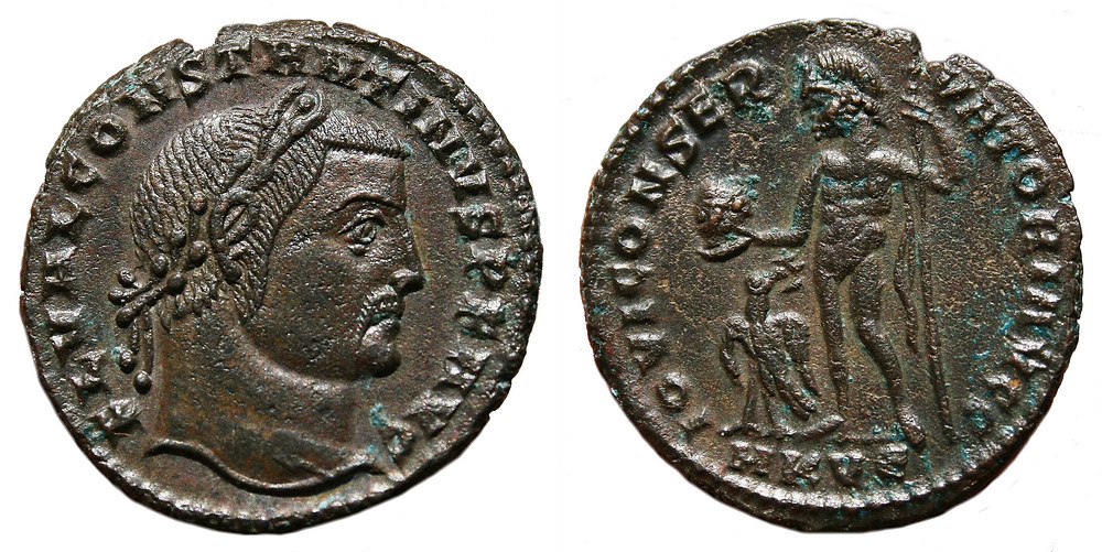 Follis struck on behalf Constantine I.