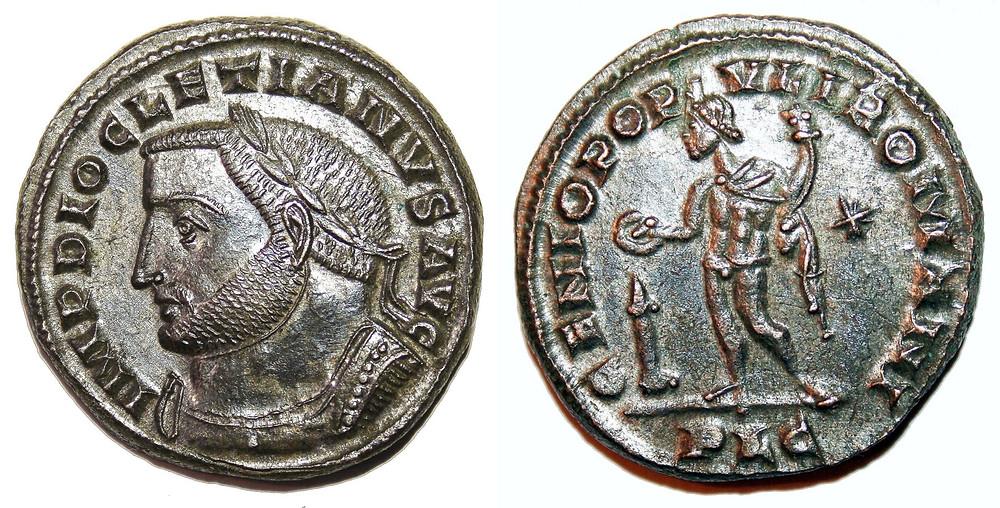 Follis Diocleciano coin