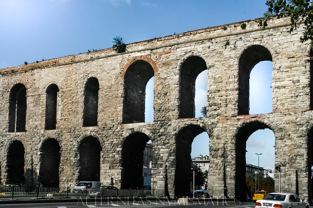 Section of the Valens aqueduct, in Constantinople / Istanbul
