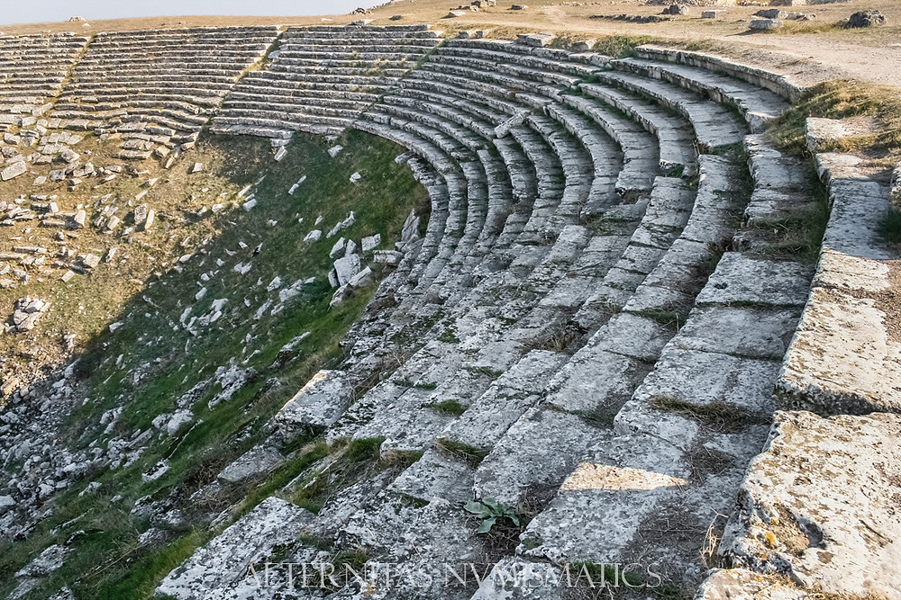 Laodicea: View of the last ten rows of seats of the western theater, almost perfectly preserved.