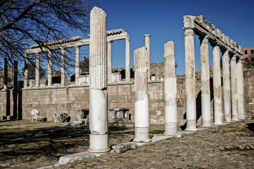 Stoas of the Trajaneum sacred complex.