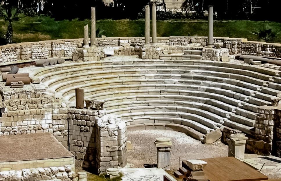 Ruins of a little roman odeon in Alexandria