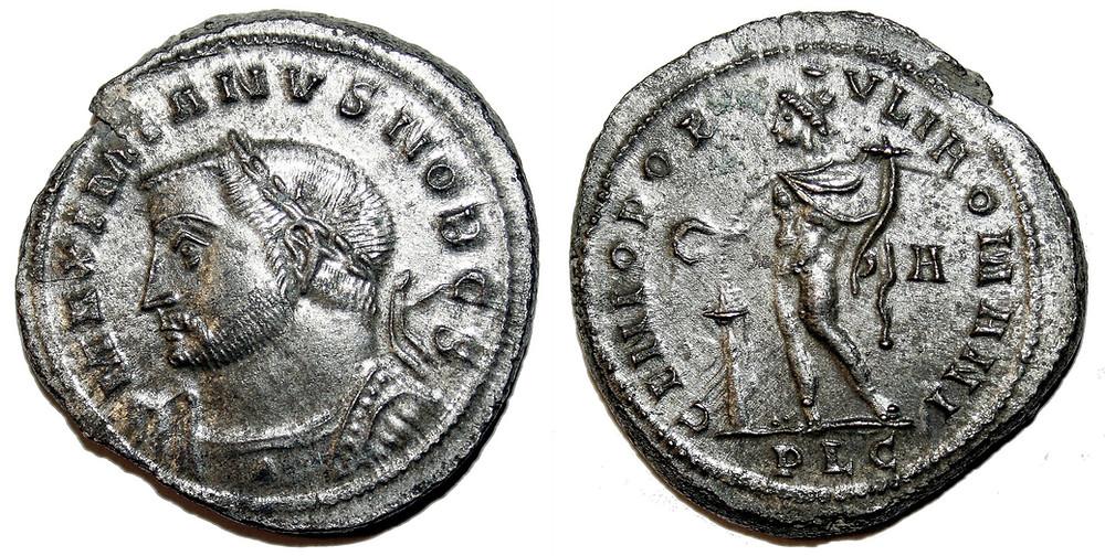 Follis Galerius Maximianus Coin