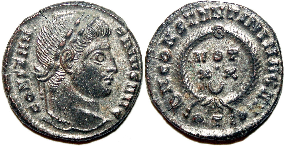 Centenonial of Ticinum in the name of Constantine I.