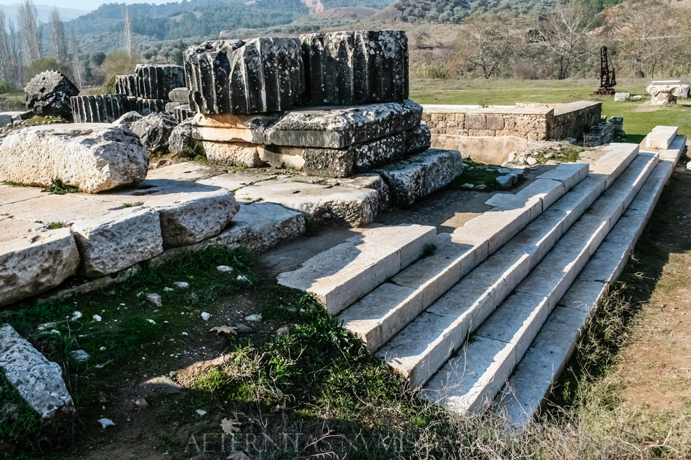 Staircase of the temple of Artemis, Sardes.
