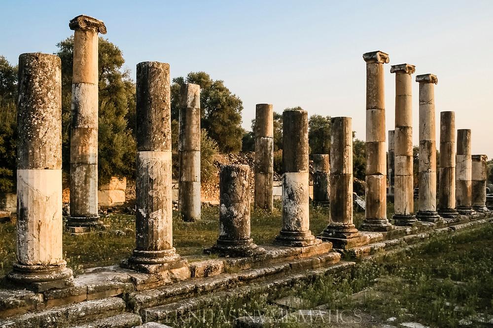 porticated stoa Nysa, Turkey