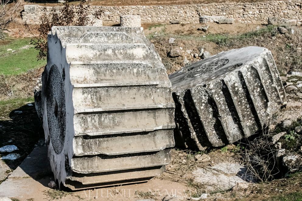 Hellenistic columns of the Artemis Temple, Sardes