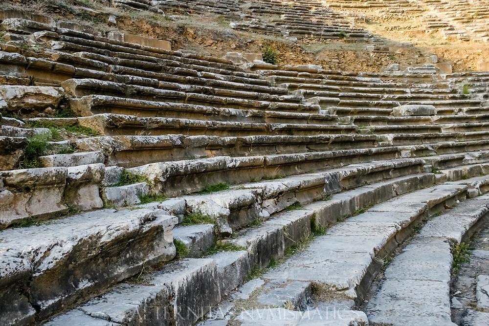 cavea seats Nysa, Turkey