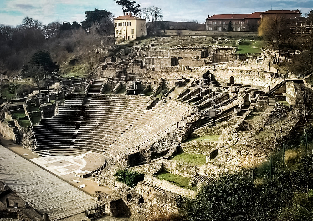 Roman theater of Lugdunum, Lyon France