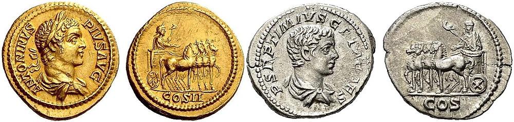 Geta & Caracalla Coins