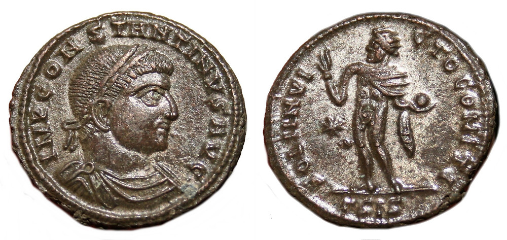 Reduced follis coined in the third office of Siscia