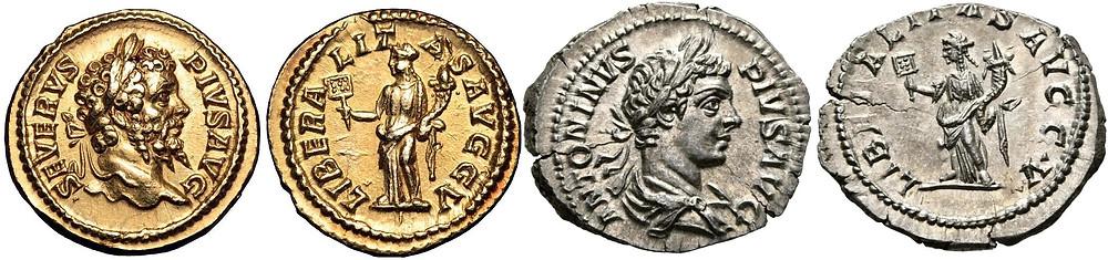 Septimius Severus Antoninus Coins
