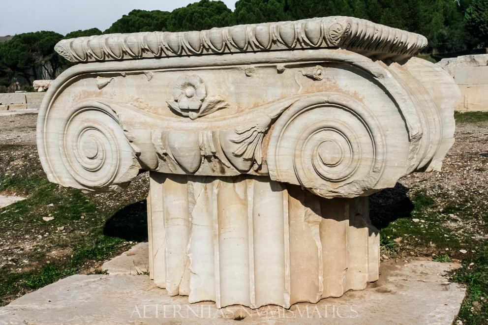 ionic capitals of the Artemis Temple, Sardes