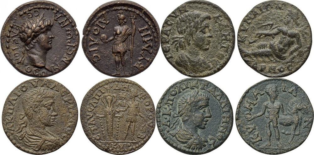 Bronze coins struck in Kyme