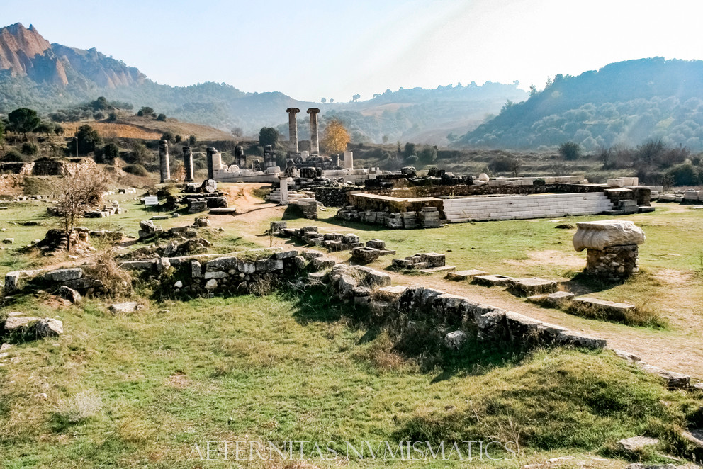 General view of theTemple of Artemis, Sardes.