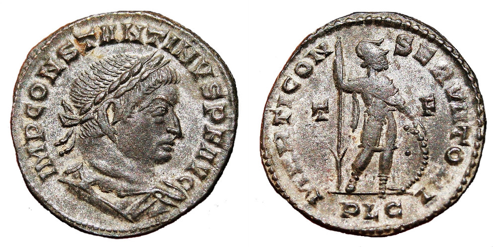 Follis Constantine I coin