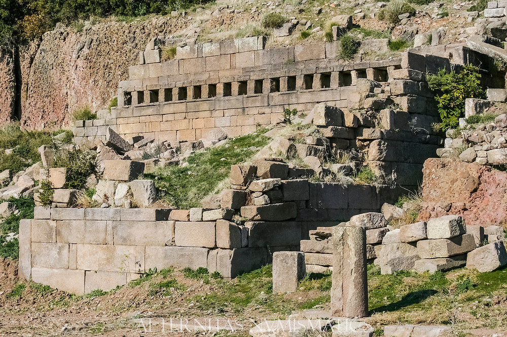 East end of the Stoa Assos, Turkey