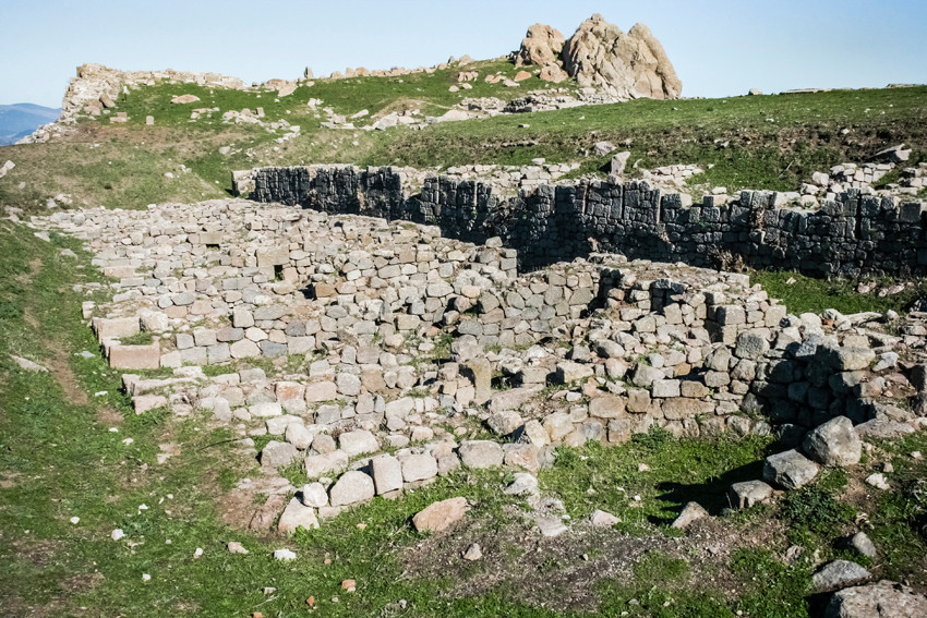 Remains of the Pergamon Arsenal built in the time of the monarch Attalus I.