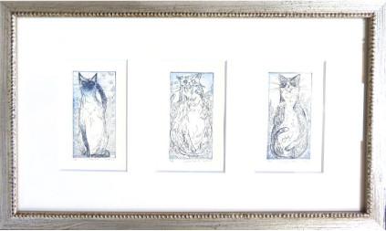 3匹の招き猫