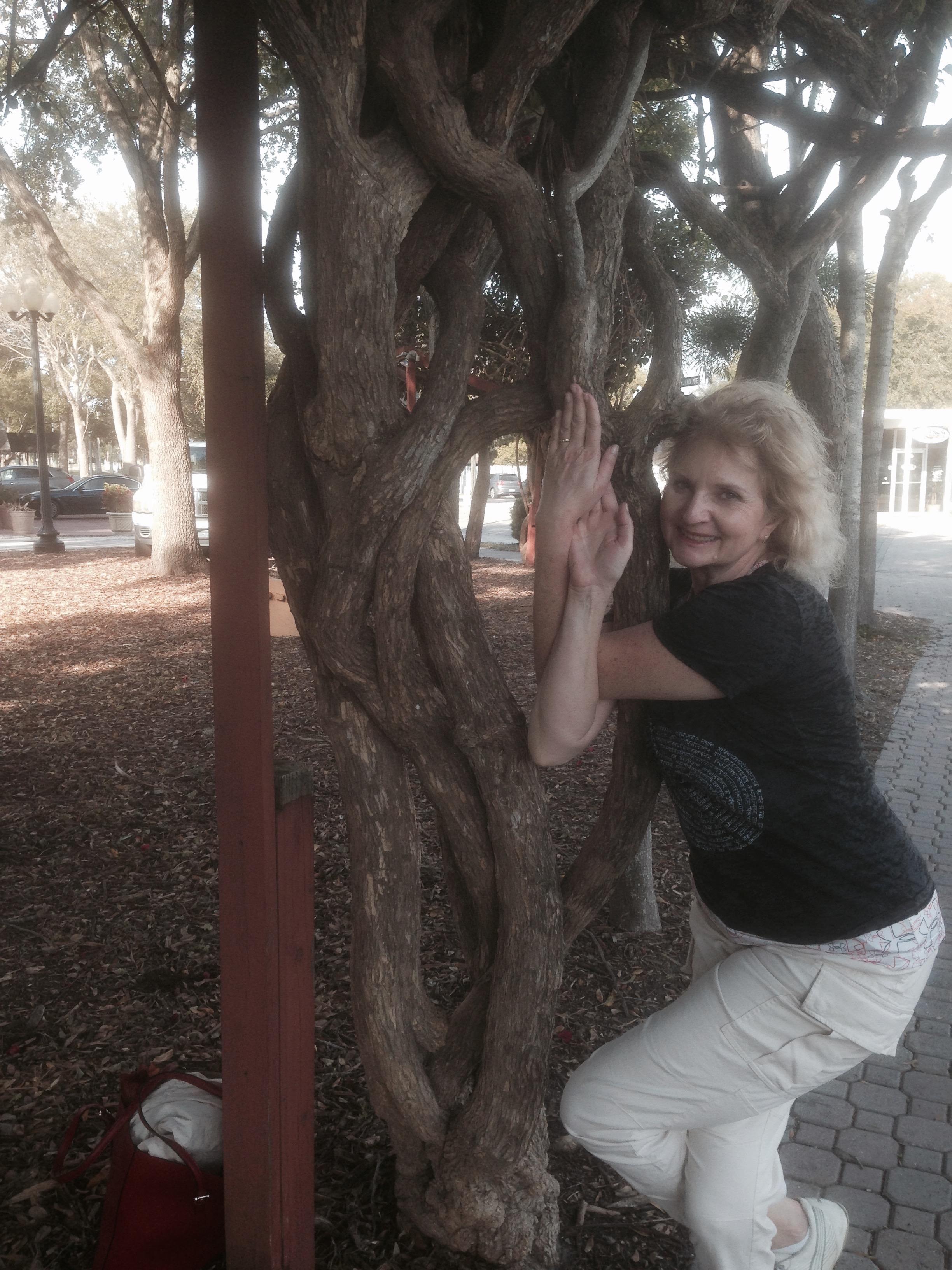 Niti's wisteria eagle pose