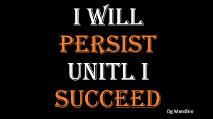 How To Be Persistent