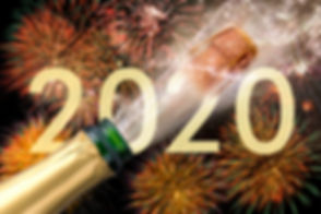Happy new year 2020 with firework and sp