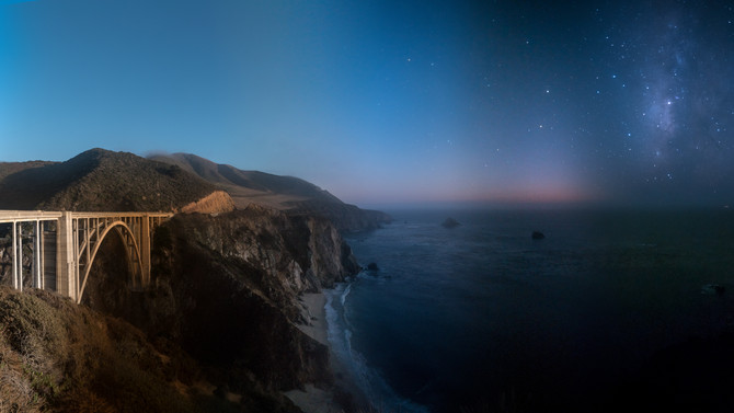 Fog and Fire up to Big Sur