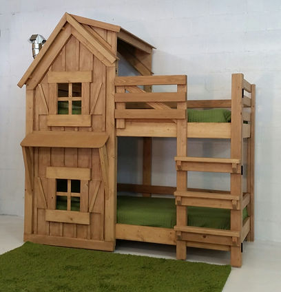Imagine THAT! Playhouses  The Rustic Bunk Bed