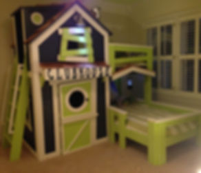 The Clubhouse Bunk Bed by Imagine THAT! Playhouses & More...