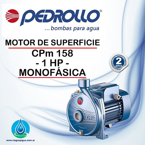 BOMBA MOTOR DE SUPERFICIE PEDROLLO CPm 158 _ 1HP MONOFASICA