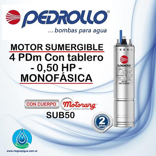 BOMBA SUMERGIBLE PEDROLLO 4 PDM _ 0,5HP MONOFASICA _ 4 PULGADAS