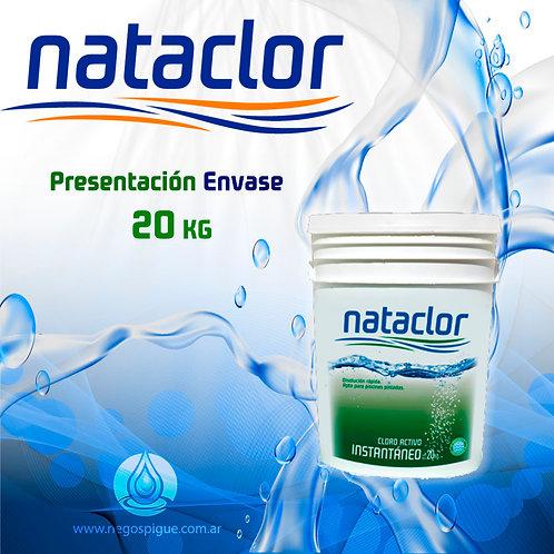 CLORO INSTANTANEO ACTIVO DE 20 KILOS NATACLOR RINDE +