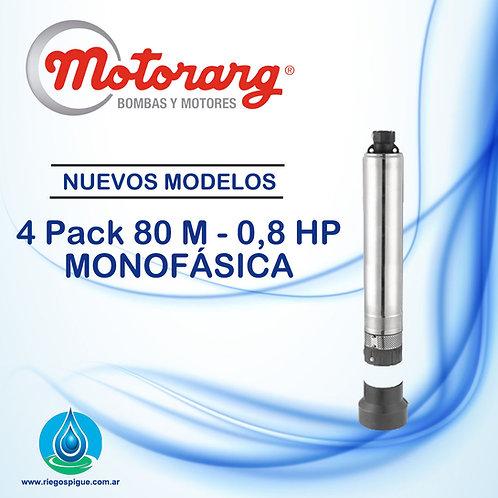 BOMBA SUMERGIBLE MOTORARG 4PACK 80 _ 0,8HP MONOFASICA _ 4 PULGADAS