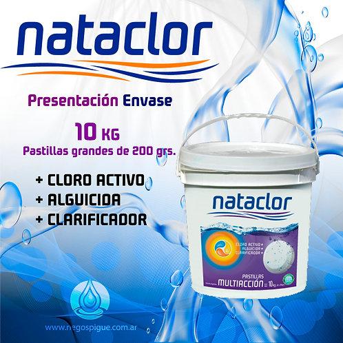 PASTILLAS DE CLORO MULTIACCION 200GR DE 10KG NATACLOR RINDE +