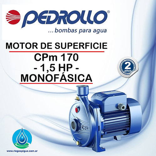 BOMBA MOTOR DE SUPERFICIE PEDROLLO CPm 170 _ 1,5HP MONOFASICA