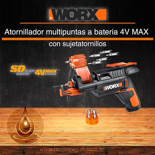 ATORNILLADOR MULTIPUNTAS A BATERIA 4V MAX _ WORX WX255