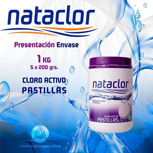 PASTILLAS DE CLORO ACTIVO 200GR DE 1KG NATACLOR RINDE +
