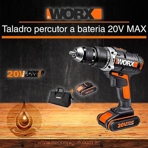 TALADRO PERCUTOR A BATERIA 20V MAX _ WORX WX371