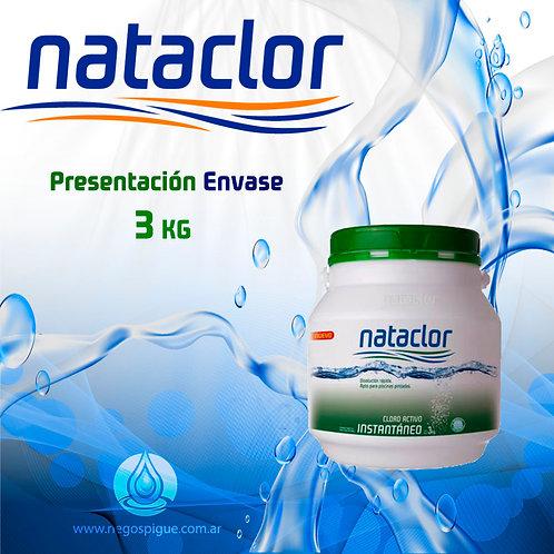CLORO INSTANTANEO ACTIVO DE 3 KILOS NATACLOR RINDE +