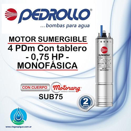 BOMBA SUMERGIBLE PEDROLLO 4 PDM _ 0,75HP MONOFASICA _ 4 PULGADAS