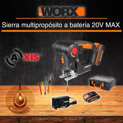 SIERRA DE CALAR A BATERIA 20V MAX _ WORX WX550 _