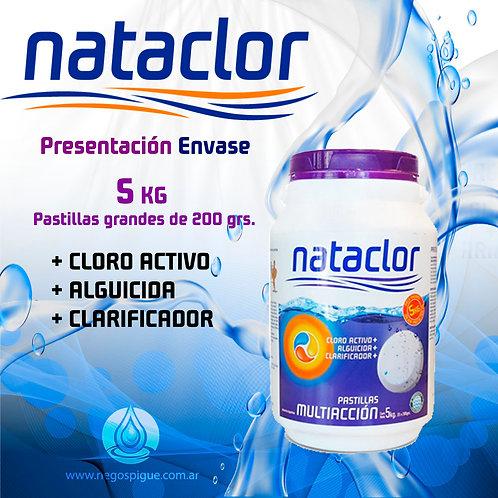 PASTILLAS DE CLORO MULTIACCION 200GR DE 5KG NATACLOR RINDE +