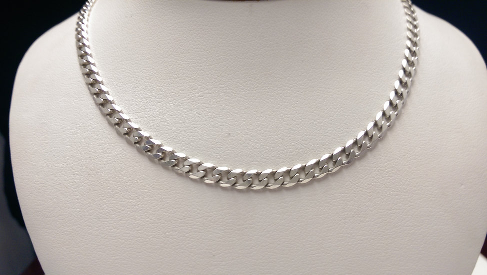 925 Sterling Silver Lightweight Curb Chain 18 inch