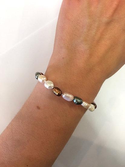 Silver Pearl Bracelet (SB130)