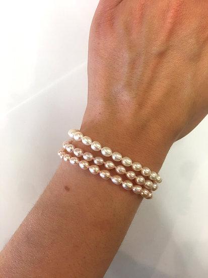 Silver Pearl Bracelet (SB146)