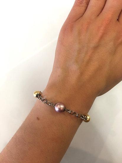 Silver Pearl Bracelet (SB145)