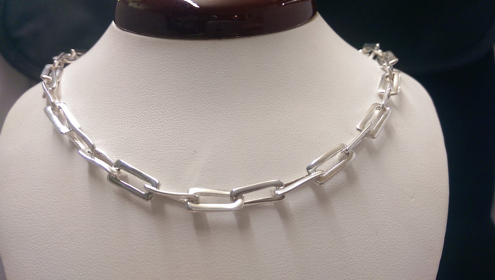 925 Sterling Silver Fancy Necklace 18 inches
