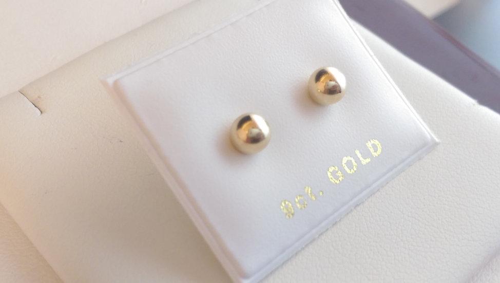 9ct Yellow Gold Ball Earrings