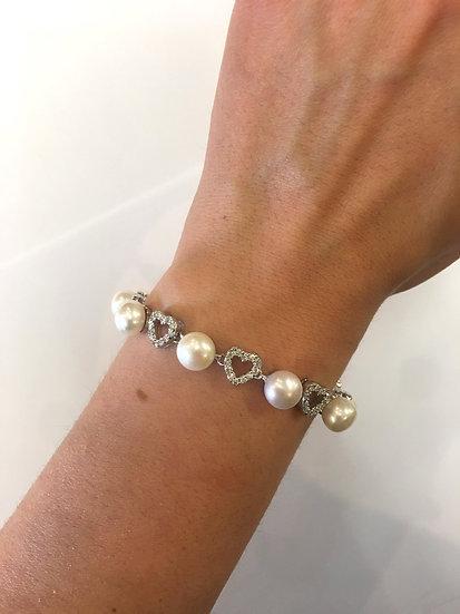 Silver Pearl Bracelet (SB152)