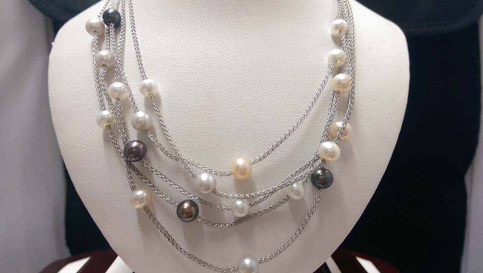 925 Sterling Silver Pearl Necklace